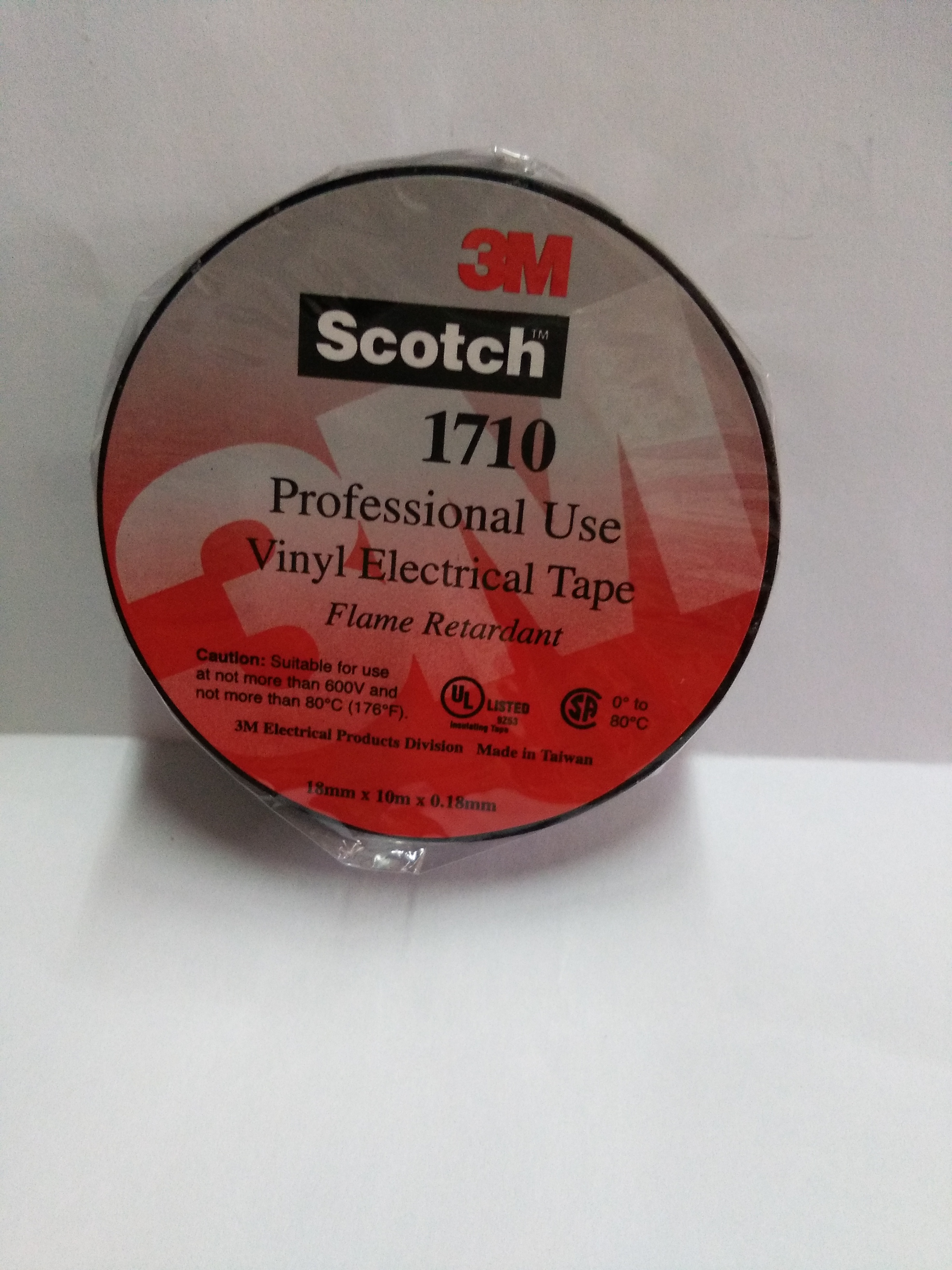 240001 1 – 3M Temflex Vinyl Electrical Tape ( Black ) – 18mm